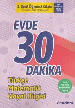 Tudem Yayınları 1. Sınıf Evde 30 Dakika Öğrenci Kitabı