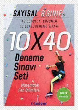 Tudem Yayınları 8. Sınıf Sayısal 10x40 Deneme Sınavı Seti