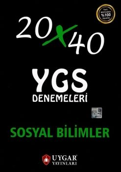 Uygar Yayınları YGS Sosyal Bilimler 20x40 Deneme