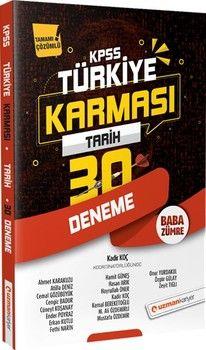 Uzman Kariyer 2020 KPSS Tarih Türkiye Karması 30 Deneme Tamamı Çözümlü