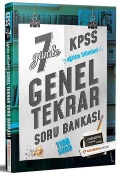 Uzman Kariyer 2020 KPSS Eğitim Bilimleri 7 Günde Genel Tekrar Soru Bankası Tek Kitap