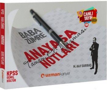 Uzman Kariyer KPSS Anayasa Baba Zümre Canlı Ders Notları