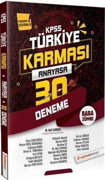 Uzman Kariyer KPSS Anayasa Türkiye Karması 30 Deneme Tamamı Çözümlü