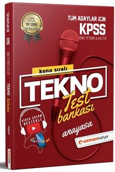 Uzman Kariyer KPSS Anayasa Tekno Test Bankası