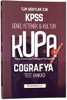 Uzman Kariyer KPSS Genel Yetenek Genel Kültür Kupa Coğrafya Test Bankası