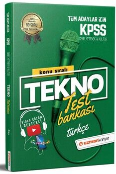 Uzman Kariyer KPSS Türkçe Tekno Konu Test Bankası