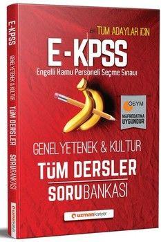 Uzman Kariyer Yayınları 2020 EKPSS Genel Yetenek Genel Kültür Tüm Dersler Soru Bankası