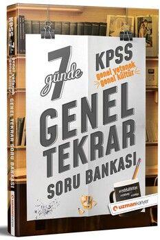 Uzman Kariyer Yayınları KPSS Genel Yetenek Genel Kültür 7 Günde Genel Tekrar Soru Bankası