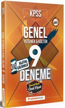 Uzman Kariyer Yayınları KPSS Genel Yetenek Genel Kültür Dijital Çözümlü 9 Deneme