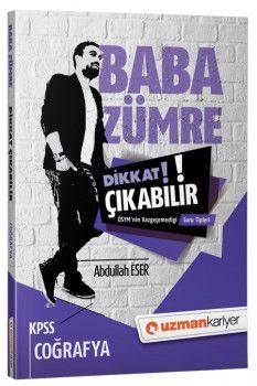 Uzman Kariyer Yayınları 2018 KPSS Baba Zümre Coğrafya Dikkat Çıkabilir