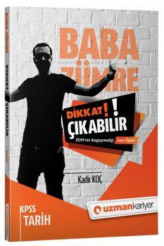 Uzman Kariyer Yayınları 2018 KPSS Baba Zümre Tarih Dikkat Çıkabilir