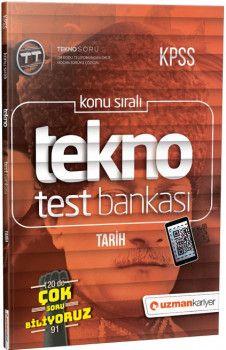 Uzman Kariyer Yayınları KPSS Tarih Tekno Test Bankası