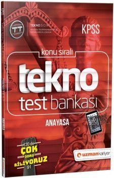 Uzman Kariyer Yayınları KPSS Anayasa Tekno Test Bankası