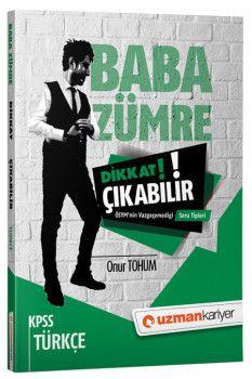 Uzman Kariyer Yayınları 2018 KPSS Baba Zümre Türkçe Dikkat Çıkabilir