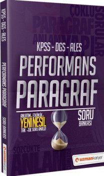Uzman Kariyer Yayınları KPSS DGS ALES Performans Paragraf Soru Bankası