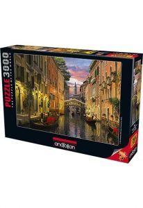 Venedik\'te Alacakaranlık / Venice at Dusk 3000 Parça Puzzle - Yapboz