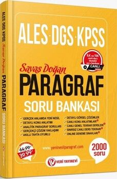 Veri Yayınları ALES DGS KPSS Paragraf Soru Bankası