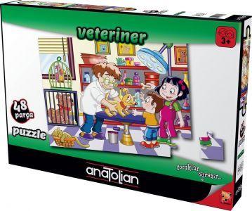 Veteriner Veterinary 48 Parça Puzzle - Yapboz