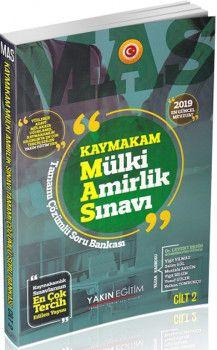Yakın Eğitim Yayınları MAS Kaymakam Mülki Amirlik Sınavı Cilt 2 İktisat Tamamı Çözümlü Soru Bankası