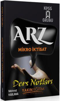 Yakın Eğitim Yayınları KPSS A Grubu ARZ Mikro İktisat Ders Notları