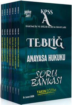 Yakın Eğitim Yayınları KPSS A Grubu TEBLİĞ Hakimlik ve Diğer Sınavları Hukuk Soru Bankası Modüler Set