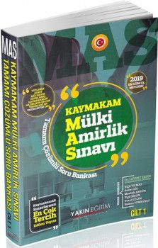 Yakın Eğitim Yayınları MAS Kaymakam Mülki Amirlik Sınavı Cilt 1 Hukuk Soru Bankası