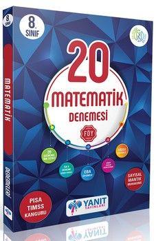Yanıt Yayınları 8. Sınıf Matematik Video Çözümlü 20 Denemesi