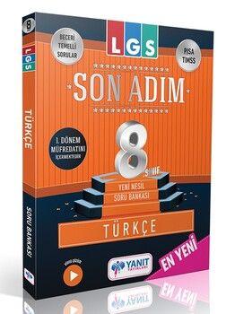 Yanıt Yayınları 8. Sınıf LGS 1. Dönem Türkçe Son Adım Soru Bankası