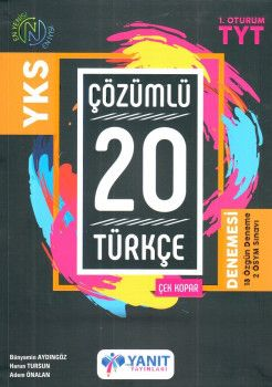 Yanıt Yayınları YKS 1. Oturum TYT Türkçe Çözümlü Çek Kopar 20 Deneme