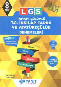Yanıt Yayınları 8. Sınıf LGS T.C. İnkılap Tarihi ve Atatürkçülük Tamamı Çözümlü 30 Deneme