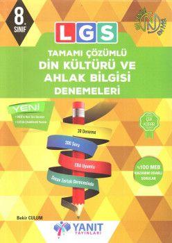 Yanıt Yayınları 8. Sınıf LGS Din Kültürü ve Ahlak Bilgisi Tamamı Çözümlü 30 Deneme