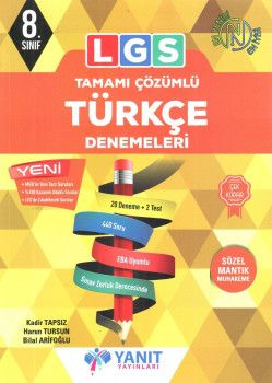Yanıt Yayınları 8. Sınıf LGS Türkçe Tamamı Çözümlü 20 Deneme