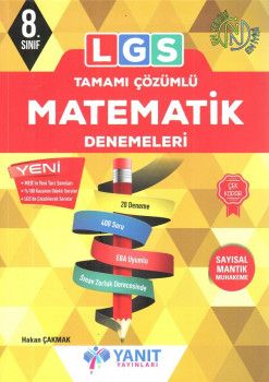 Yanıt Yayınları 8. Sınıf LGS Matematik Tamamı Çözümlü 20 Deneme
