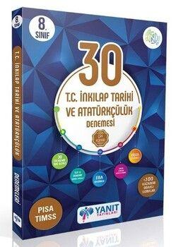 Yanıt Yayınları 8. Sınıf T.C. İnkılap Tarihi ve Atatürkçülük 30 lu Branş Denemesi