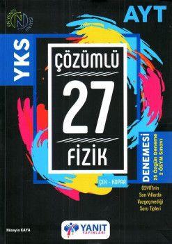 Yanıt Yayınları AYT  Fizik Çözümlü Çek Kopar 27 Denemesi