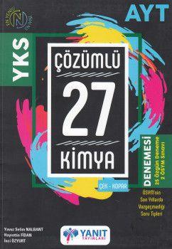 Yanıt Yayınları AYT Kimya 27 Çözümlü Denemesi