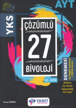 Yanıt Yayınları AYT Biyoloji 27 Çözümlü Denemesi