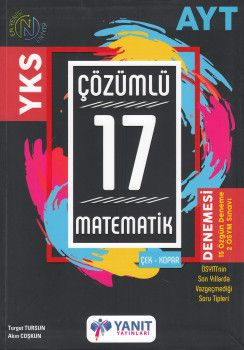 Yanıt Yayınları AYT Matematik 17  Çözümlü Denemesi