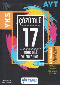 Yanıt Yayınları AYT Türk Dili ve Edebiyatı 17  Çözümlü Denemesi