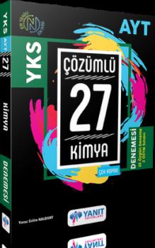 Yanıt Yayınları AYT Kimya Çözümlü 27 Deneme