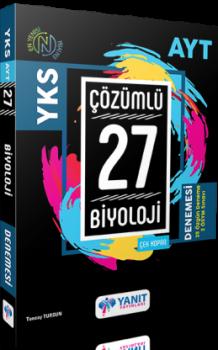 Yanıt Yayınları AYT Biyoloji Çözümlü 27 Deneme