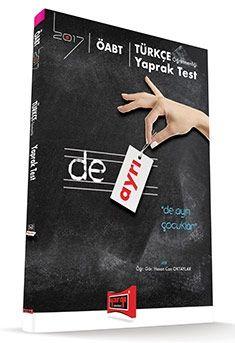 Yargı 2017 ÖABT DE AYRI Türkçe Öğretmenliği Yaprak Test