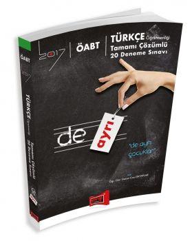 Yargı 2017 ÖABT DE AYRI Türkçe Öğretmenliği Tamamı Çözümlü 20 Deneme Sınavı