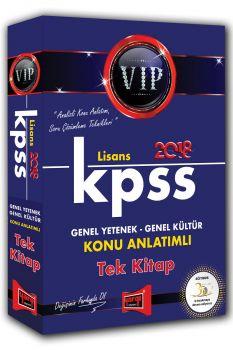 Yargı 2018 KPSS Genel Yetenek Genel Kültür VIP Lisans Konu Anlatımlı Tek Kitap