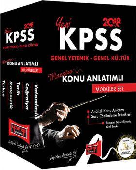 Yargı 2018 KPSS Maestro Genel Yetenek Genel Kültür Konu Anlatımlı Modüler Set
