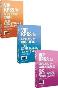 Yargı 2021 KPSS VIP Tarih 3000 Coğrafya 1000 Vatandaşlık 1000 Soru Bankası 3 lü Set Çözümlü