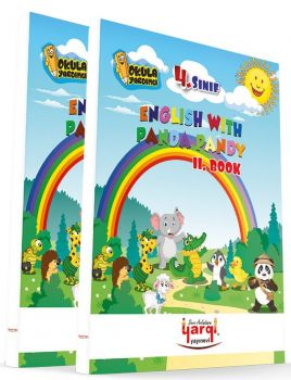 Yargı Ders Arkadaşım 4. Sınıf English With Panda Pandy 2 Kitap CD\'li