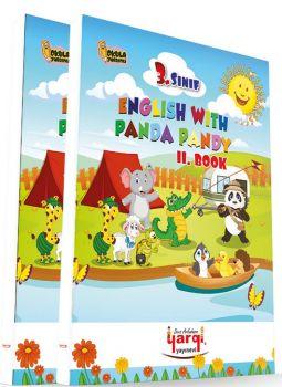 Yargı Ders Arkadaşım 3. Sınıf English With Panda Pandy 2 Kitap CD\'li