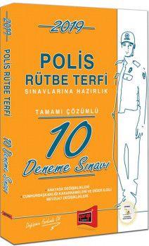 Yargı Yayınları 2019 Polis Rütbe Terfi Sınavlarına Hazırlık Tamamı Çözümlü 10 Deneme Sınavı