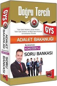 Yargı Yayınları GYS Adale Bakanlığı Açıklamalı Konu Özetli Soru Bankası